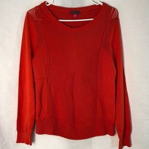 Vince Camuto Large Sweater Orange Pull Over 137
